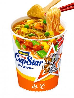 Ramen Cup Star Miso | Receta Japonesa Sanyo | Edición Tom & Jerry 79 grs