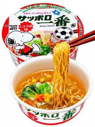 Fideos Ramen Donburi de Shoyu y Pollo   Nihon Nº1   Edi. Snoopy 79 grs