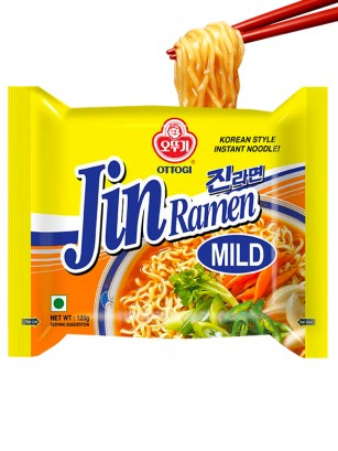 Fideos Ramen Coreanos Ramyun Jin Blue de Carne | Medio Picante
