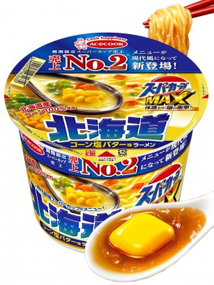 Fideos Ramen Super Cup MAX de Maíz con Mantequilla de Hokkaido 119 grs