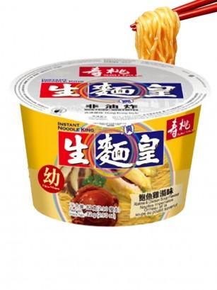 Fideos Ramen Imperiales de Pollo y Marisco al Estilo de Hong Kong