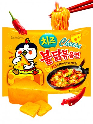 Fideos Ramen Coreano Salteado Wok Queso ULTRA HOT Chicken | Bag