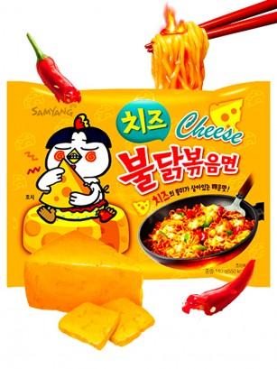Fideos Ramen Coreano Salteado Wok Queso ULTRA HOT Chicken | Bag