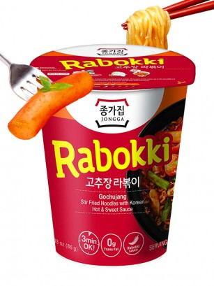 Fideos Ramen Coreanos con Ganjang | Rabokki Cup 82 grs.