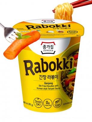 Fideos Ramen Coreanos estilo Topokki y Ganjang Teriyaki | Rabokki Cup 82 grs.