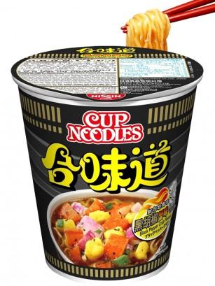 Ramen Nissin Colors Cup Super Toppings | Surimi Pimienta Negra 74 grs.