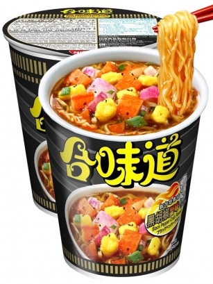 Ramen Nissin Colors Cup Super Toppings | Surimi Pimienta Negra 74 grs.