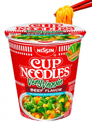 Fideos Ramen Ternera Very Veggie | Cup Noodles 75 grs