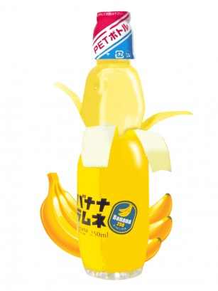 Soda Ramune de Banana 250 ml.