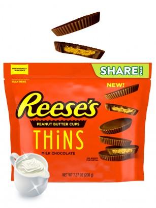 Chocolatinas Reese´s Thins de Chocolate con Crema de Cacahuete 208 grs