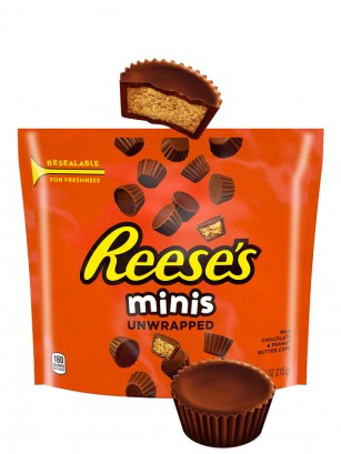 Mini Chocolatinas Reese´s de Crema de Cacahuete | Big Bag 226 grs