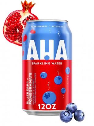 Refresco Sparkling Water AHA de Arándanos y Granada | Coca-Cola 355 ml.