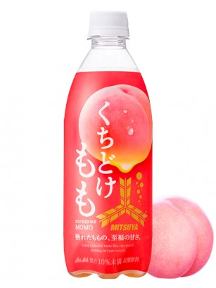 Soda Mitsuya Sparkling Melocotón Rosado MOMO 500 ml.