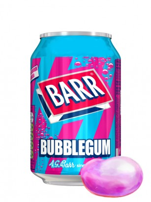Soda Barr Bubblegum | Sabor Chicle 330 ml.