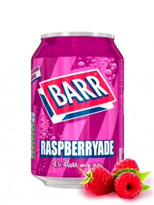 Soda Barr Raspberryade | Sabor Frambuesa 330 ml.