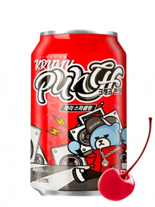 Soda Coreana Krunk Punch de Cereza 350 ml.