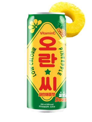 Soda Coreana Piña Vitamin C | Retro Can 250 ml.