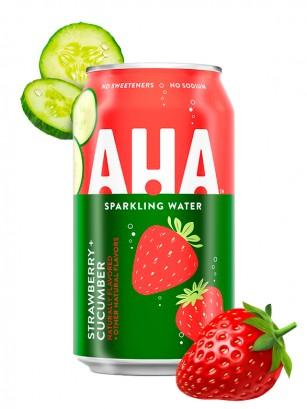 Refresco Sparkling Water AHA de Fresa y Pepino | Coca-Cola 355 ml.