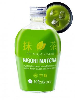 Sake de Kyoto Nigori con Matcha 300 ml.
