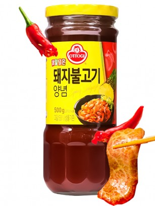 Salsa Coreana Receta Bulgogi Picante con Piña 500 grs