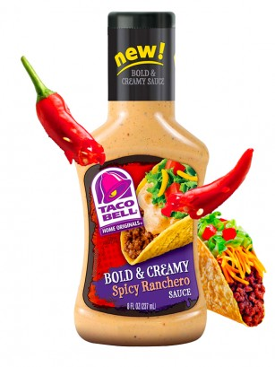 Salsa Taco Bell Spicy Ranchero | Medio Picante 237 ml.