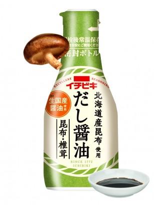 Salsa de Soja con Algas de Hokkaido y Setas Shiitake 200 ml.