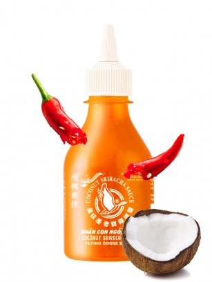 Salsa Sriracha Chili con Leche de Coco | HOT 200 ml.