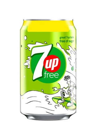 7Up Free Sin Azúcar 330 ml | Fido Dido UK Edition