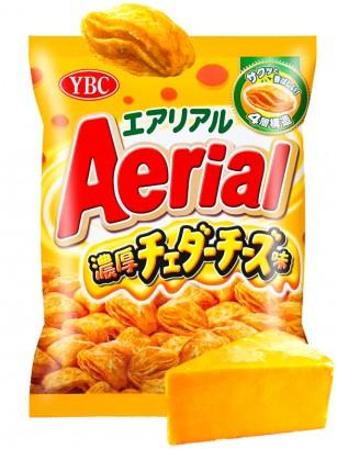 Snack de Almohadillas Maíz Asado con Queso Cheddar | Aerial 70 grs.