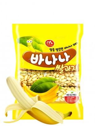 Barritas Coreanas de Arroz Sabor Plátano 70 grs.