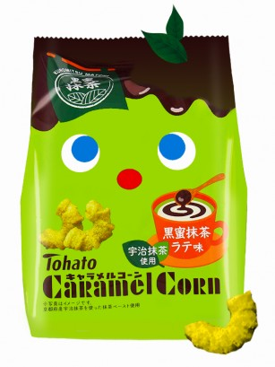 Snack Lovely Tohato Matcha Latte con Melaza de Azúcar Moreno | Caramel Corn 85 grs