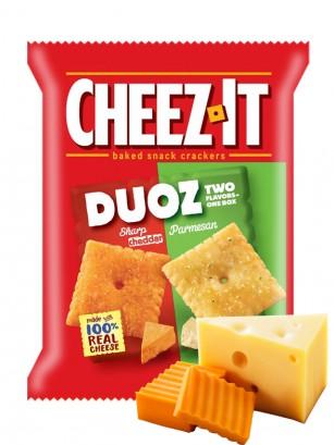 Galletitas de Queso Cheddar y Parmesano | Cheez It DUOZ 121 grs