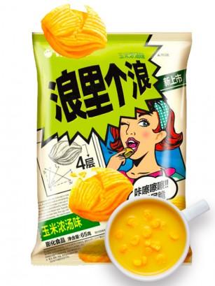 Snack Coreano Kkobuk con Sabor a Crema de Maíz 40 grs