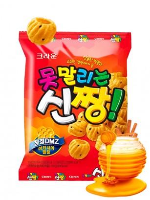 Snack Coreano de Miel, Sésamo Negro y Canela 120 grs