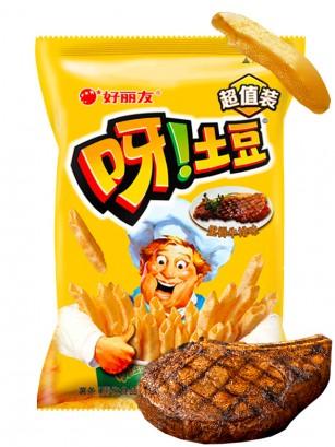 Snack Coreano de Patata Sabor Carne al Grill | Macaroni Gratin