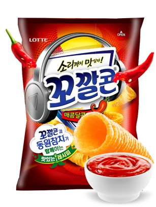 Snack Coreano de Maíz Dulce a la Salsa Gochujang Picante | Lotte
