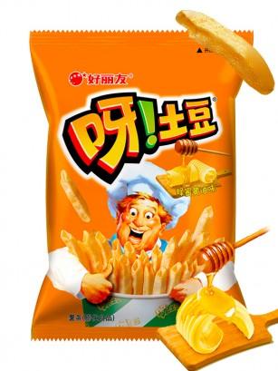 Snack Coreano de Patata Sabor Miel y Mantequilla | Macaroni Gratin