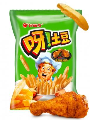 Snack Coreano de Patata Sabor Pollo Frito | Macaroni Gratin