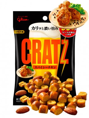Snack Cratz Pollo Frito Picante | Glico 42 grs