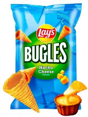 Snack Lays de Maíz 3 D Bugles | Sabor Queso Nachos | Family Size 125 grs