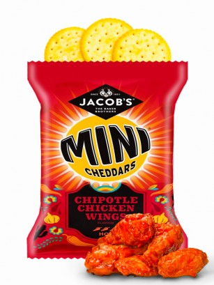 Galletitas Mini Cheddar Sabor Alitas de Pollo con Chipotle 25 grs