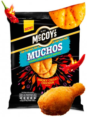 Snack McCoy's Sabor Pollo con Chilli Ahumado | Picante 80 grs. | Pedido GRATIS!