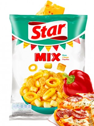Snack Mix de Pizza, Queso y Paprika | Star Pepsi 90 grs
