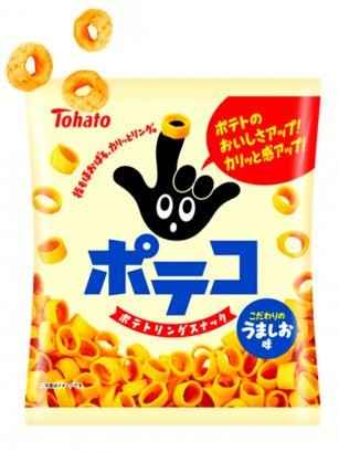 Snack Aros Patatas con Sal de Okinawa Umami | Poteco Jumbo 78 grs