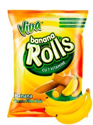Roll Snacks rellenos de Crema de Banana 100 grs.