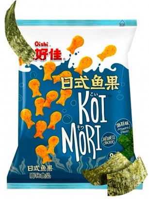 Snack Tradicional de Arroz y Patata Senbei con Dashi no Moto y Nori