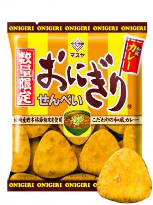 Snack Senbei de Onigiri con Curry Japonés 52 grs.