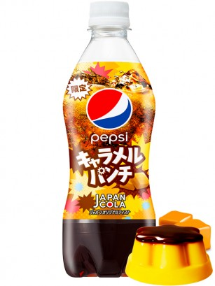 Pepsi Japonesa Ponche de Pudding de Caramelo | 490 ml.