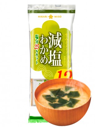 12 Raciones de Sopa de Miso Fresco y Wakame | Bajas en Sal  | 180 grs.