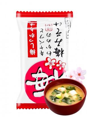 Sopa Liofilizada de Miso con col, wakame y Flor de Cerezo